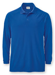 Premium Performance Long-Sleeve Piqué Polo
