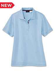 A.Mark Studio™ Women's Micro-Stripe Short-Sleeve Polo
