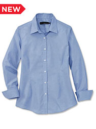A.Mark Studio™ Women's Long-Sleeve End-on-End Dress Shirt