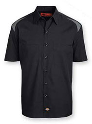 Dickies® Short-Sleeve Mechanical Stretch Color Block Shirt