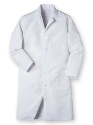 Aramark Men's Button Front Lab Coat