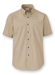 WearGuard® Short-Sleeve Fine Line Blended Twill Shirt