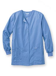 Landau® Women's Warm-Up Style Scrub Jacket